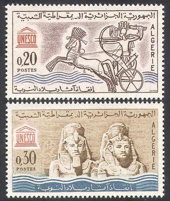 ALGERIA 1964 ABU SIMBEL/STATUES/CARVING/HISTORY/HERITAGE/STATUE 2V SET N39579