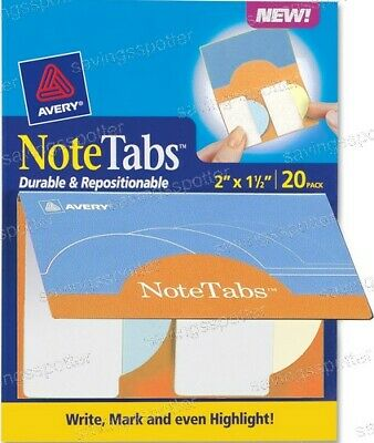 Avery Notetabs Books 2 X 1.5 Note Tabs Round Edge Pastel Yellow Blue Green 20