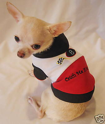 Dog Clothes/Catch Me Racing Dog Hoodie/Chihuahua/Yorkie
