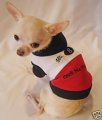 Dog Clothes/Dog Hoodie//Catch Me Racing Hoodie Chihuahua/XS,S,M,L FREE SHIP