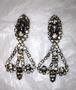Vintage Dangle Clip Earrings