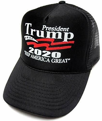 Keep America Great Hat President Trump 2020 Trucker Black Cap w/Mesh Back