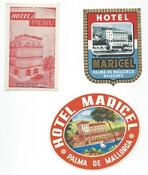 Hotel Label Lot