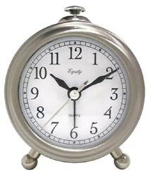 La Crosse, Brushed Silver Metal Case Table Alarm Clock
