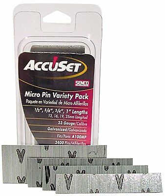 Accuset A109809 Variety Pack 23-gauge Galvanized Micro Pin 2500 Per Box