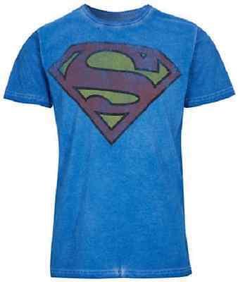 Neu Superman Herren T-Shirt im Oil Washed Look - Gr. M, L, XL