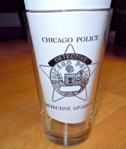 CHICAGO POLICE DETECTIVE DIVISION GLASS