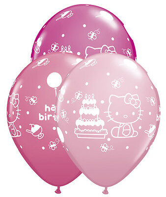Party Balloon Packages (HELLO KITTY Cat Pink (6) 12