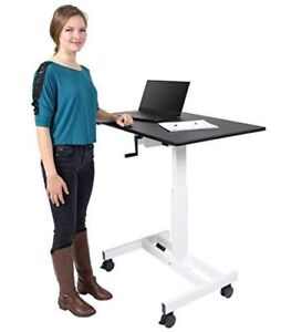 New in Box 50% Off. Single Column Crank Adjustable Stand Up Desk