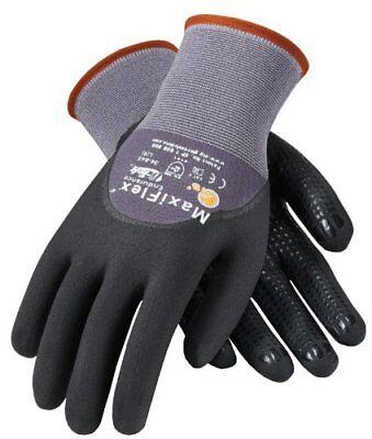 PIP ATG 34-845/L Large MaxiFlex Endurance, 15G Gry Nylon, Blk. Gloves, 3-Pack