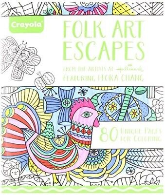 Crayola Folk Art Escapes Coloring Book - Adult coloring book - 80 Pages