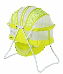 Dream-On-Me-Karley-Travel-Portable-Space-Saver-Baby-Bassinet-Lime-Green-NIB-NEW