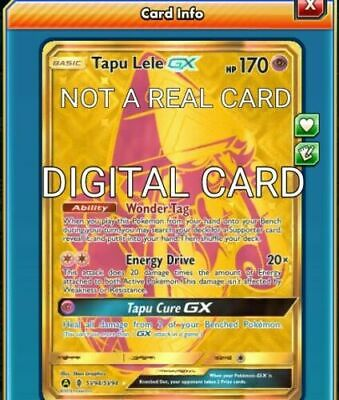 Tapu Lele GX SHINY Pokemon TCG Online PTCGO DIGITAL CARD SV94/SV94