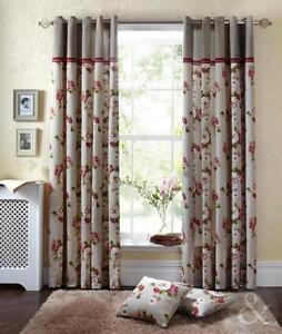 Shabby Chic Floral Curtains