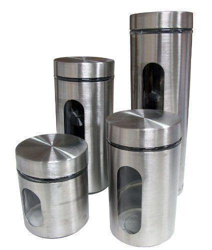 glass canisters for kitchen kitchen storage canisters ebay 17876