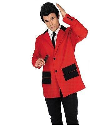Herren 50er Jahre 1950er Teddy Junge Drapiert Mantel Rot Fancy-Dress Kostüm - 1950er Jahren Fancy Dress Kostüm
