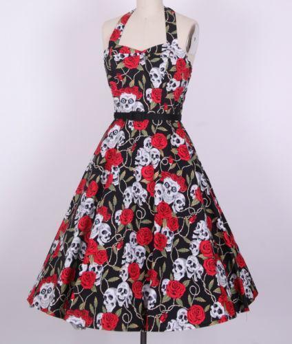Rockabilly Skull Dress Ebay
