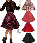 Cotton Blend 50's, Rockabilly Floral Skirts for Women