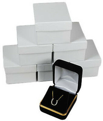 6 Piece Black Velvet Necklace Earrings Jewelry Gift Boxes 1 78 X 2 18