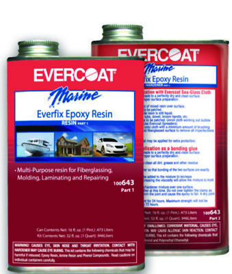 Evercoat Boat Marine Everfix Epoxy Quart Kit Includes Quart Of Part 1 Part 2