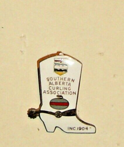 Curling Club Pin - Southern Alberta Curling Association Inc 1904 Cowboy Boot