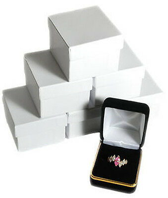 6 Black Velvet Ring Jewelry Gift Boxes With Gold Trim 1 78 X 2 18 X 1 12h