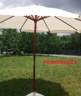 ombrellone giardino mercato legno beige 3 METRI landhausschirm usato  Spedire a Italy