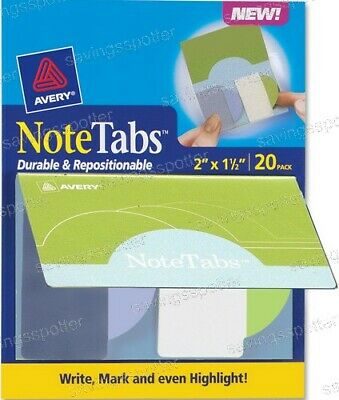 Avery Notetabs Books 2 X 1.5 Note Tabs Round Edge Cool Purple Lime Green 20