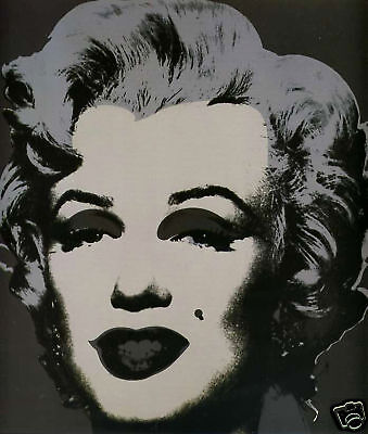 Andy Warhol Marilyn Monroe x6 Colour Faces Photo Reproduction Picture Poster