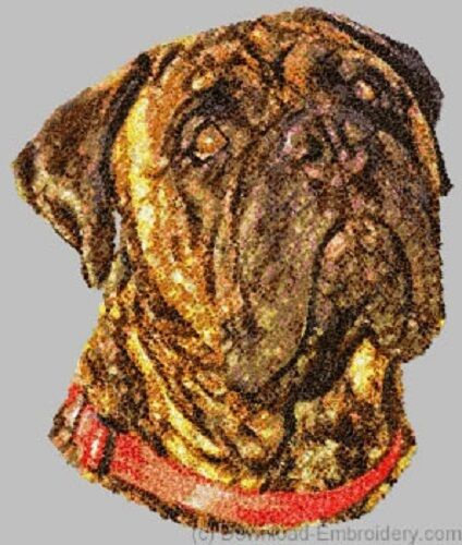 Large Embroidered Zippered Tote - Bullmastiff DLE1498