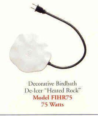 DECORATIVE HEATED ROCK BIRD BATH  DE-ICER 75 WATTS