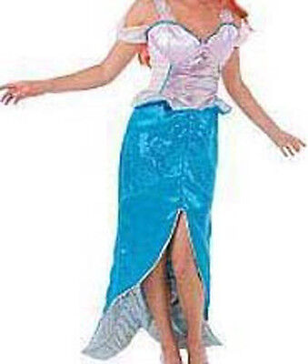 NWT! DISNEY STORE Princess ARIEL Mermaid Fancy Dress Women COSTUME ADULT S