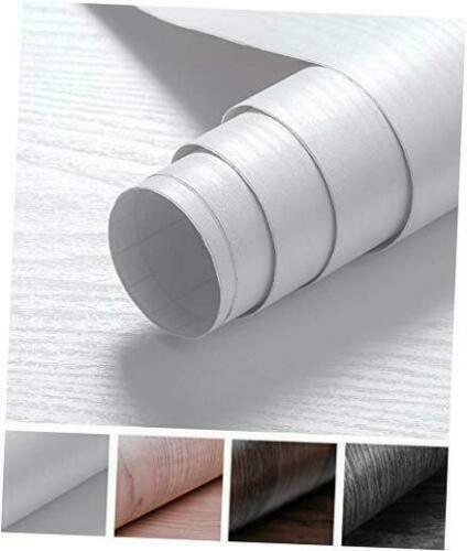 Oxdigi White Wood Grain Contact Paper 24 x 196 inches Decora
