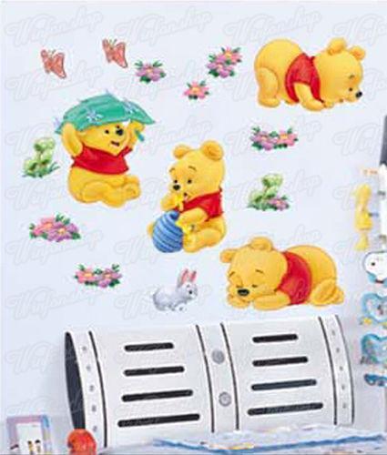 winnie pooh wandsticker m bel wohnen ebay. Black Bedroom Furniture Sets. Home Design Ideas