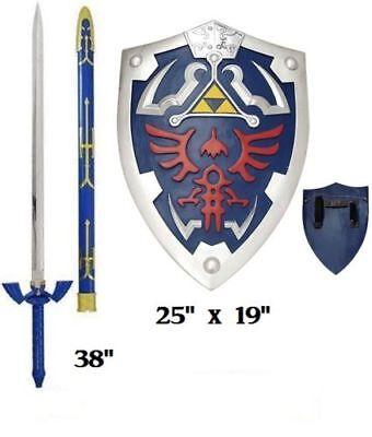 Legend of Zelda Twilight Princess Link's Master sword and shield set Real Steel - Link Master Sword