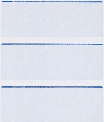 Blank Check Stock - 25 Sheets - 75 Checks  Blank Check Stock Paper - Blue - Three (3) on a Page