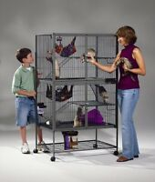 large Ferret Cage on roller stand