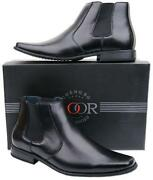 Mens Black Ankle Boots