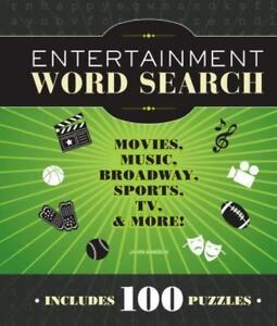 Entertainment Word Search: Movies, Music, Broadway, Sports, TV, and More! (Spira
