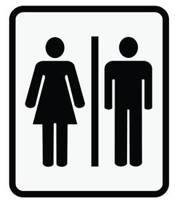 Bathroom Signs English And Spanish bathroom sign | ebay
