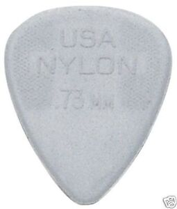 Jim Dunlop Nylon Standard  Guitar Picks - 0.73mm Gauge 12 Pack Plectrums