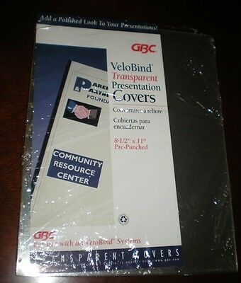 Gbc Velobind Transparent Presentation Covers Pre-punched 20