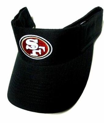 San Francisco 49ers NFL Reebok Sideline Sun Visor Golf Hat Cap Solid Black Logo Nfl Reebok Visor Hat