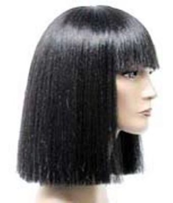 CLASSIC CLEOPATRA WOMENS SHOULDER LENGTH STRAIGHT HAIR W/ BANGS COSTUME WIG - Cleopatra Costume Wig