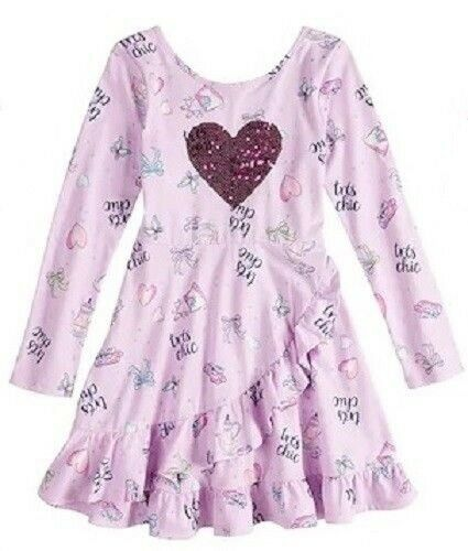 Disney Jumping Beans Fancy Nancy Sequin Heart Tres Chic Dres