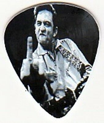 JOHNNY CASH GIVING MIDDLE FINGER NOVELTY GUITAR PICK