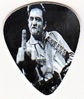 JOHNNY CASH GIVING MIDDLE FINGER NOVELTY GUITAR PICK