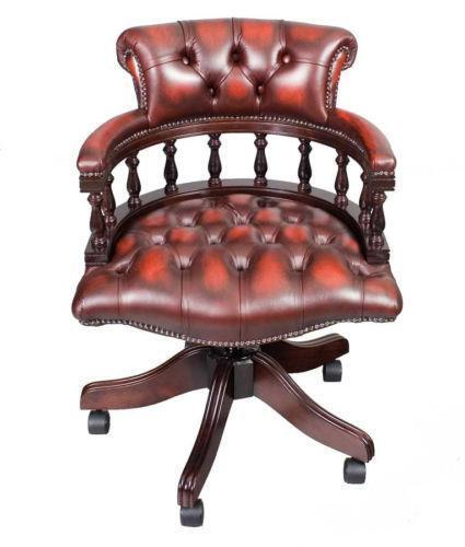 Antique leather desk chair ebay