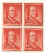 1 2 Cent Franklin Stamp