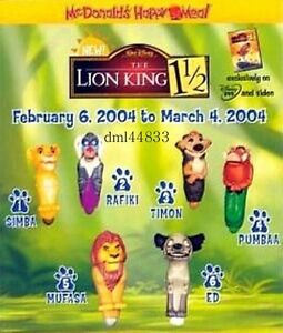 Mcdonalds Lion King Ebay